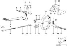 Goto diagram: BMW Classic Motorbike Model R75/5( ECE ), Category 34.10 Rear wheel brake :: Diagram: 34_0608