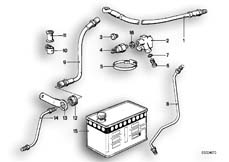 Goto diagram: BMW Classic Motorbike Model R 80 RT( USA ), Category 34.05 Brake pipe, front :: Diagram: 34_0611