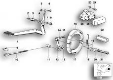 Goto diagram: BMW Classic Motorbike Model R 100 RS( ECE ), Category 34.10 Rear wheel brake :: Diagram: 34_0613
