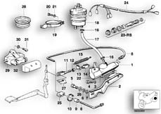 Goto diagram: BMW Classic Motorbike Model R 100 S( ECE ), Category 34.10 REAR WHEEL BRAKE,BRAKE MASTER CYLINDER :: Diagram: 34_0615