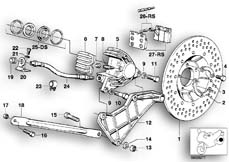 Goto diagram: BMW Classic Motorbike Model R 100 S( ECE ), Category 34.10 Rear wheel brake / brake disc :: Diagram: 34_0616