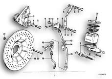 Goto diagram: BMW Classic Motorbike Model R65( USA ), Category 34.05 Retrofit kit, double disc brake :: Diagram: 34_0617