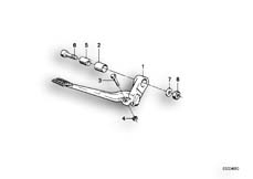 Goto diagram: BMW Classic Motorrad Modell K 100 RS 83 (0502,0503,0513)( USA ), Category 34.10 Brake pedal :: Diagram: 34_0621
