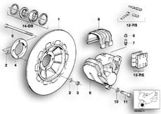 Goto diagram: BMW Classic Motorbike Model R 80 RT( USA ), Category 34.05 FRONT BRAKE 1.DISK :: Diagram: 34_0622