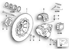 Goto diagram: BMW Classic Motorbike Model R 80 RT( USA ), Category 34.05 FRONT BRAKE 1.DISK :: Diagram: 34_0623