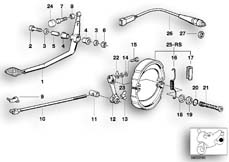 Goto diagram: BMW Classic Motorbike Model R 80 RT( USA ), Category 34.10 Rear wheel brake :: Diagram: 34_0625