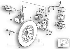 Goto diagram: BMW Classic Motorbike Model R 80 RT( USA ), Category 34.05 Retrofit kit, double disc brake :: Diagram: 34_0627