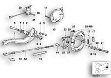 Goto diagram: BMW Classic Motorbike Model R 100 R Mystik 94( ECE ), Category 34.10 Rear wheel brake :: Diagram: 34_0630