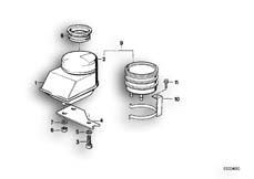 Goto diagram: BMW Classic Motorbike Model K 100 RS 83 (0502,0503,0513)( ECE ), Category 34.10 Fluid container rear :: Diagram: 34_0632