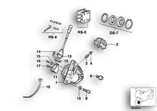 Goto diagram: BMW Classic Motorbike Model K 100 RS 83 (0502,0503,0513)( ECE ), Category 34.05 Front wheel brake, ABS :: Diagram: 34_0637