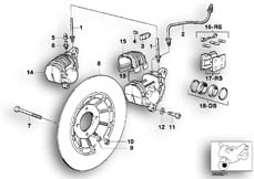Goto diagram: BMW Classic Motorbike Model R 80 RT( USA ), Category 34.05 FRONT WHEEL BRAKE :: Diagram: 34_0645