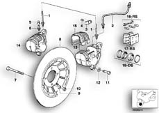 Goto diagram: BMW Classic Motorbike Model R 80 RT( USA ), Category 34.05 FRONT WHEEL BRAKE :: Diagram: 34_0646