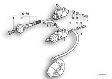 Goto diagram: BMW Classic Motorbike Model K 1100 LT (0526, 0536)( ECE ), Category 34.31 REAR BRAKE MASTER CYLINDER :: Diagram: 34_0647