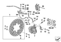 Goto diagram: BMW Classic Motorbike Model K 1100 LT (0526, 0536)( ECE ), Category 34.11 FRONT WHEEL BRAKE :: Diagram: 34_0648