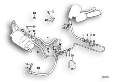 Goto diagram: BMW Classic Motorbike Model K 1100 LT (0526, 0536)( ECE ), Category 34.32 Brake line, front ABS I :: Diagram: 34_0651
