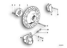 Goto diagram: BMW Classic Motorrad Modell R 80 R 91( ECE ), Category 34.10 BRAKE DISC/CALIPER/MOUNTING PARTS/FRONT :: Diagram: 34_0654