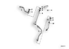 Goto diagram: BMW Classic Motorbike Model K 100 RS 83 (0502,0503,0513)( ECE ), Category 34.05 Brake pipe, front :: Diagram: 34_0656