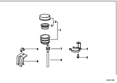 Goto diagram: BMW Classic Motorbike Model K 1100 LT (0526, 0536)( ECE ), Category 34.21 REAR WHEEL BRAKE, FLUID CONTAINER :: Diagram: 34_0661