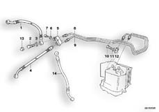 Goto diagram: BMW Classic Motorbike Model R 850 GS 95 (0403)( ECE ), Category 34.32 BRAKE PIPE FRONT ABS :: Diagram: 34_0667