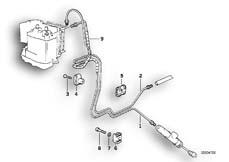 Goto diagram: BMW Classic Motorrad Modell R 1100 R 94 (0402,0407)( USA ), Category 34.32 BRAKE PIPE REAR ABS :: Diagram: 34_0668