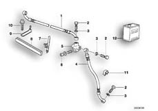 Goto diagram: BMW Classic Motorbike Model R 850 GS 95 (0403)( ECE ), Category 34.32 Brake pipe, front :: Diagram: 34_0675