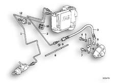Goto diagram: BMW Classic Motorbike Model K 1100 LT (0526, 0536)( ECE ), Category 34.32 BRAKE PIPE REAR ABS :: Diagram: 34_0677