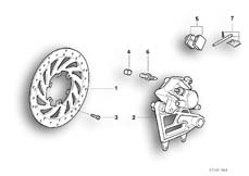 Goto diagram: BMW Classic Motorbike Model F 650 ST 97 (0163,0168)( ECE ), Category 34.21 Rear wheel brake :: Diagram: 34_0679