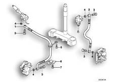Goto diagram: BMW Classic Motorbike Model F 650 ST 97 (0163,0168)( USA ), Category 34.32 Brake pipe :: Diagram: 34_0680