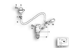 Goto diagram: BMW Classic Motorbike Model F 650 ST 97 (0163,0168)( USA ), Category 34.31 REAR WHEEL BRAKE,BRAKE MASTER CYLINDER :: Diagram: 34_0681