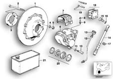 Goto diagram: BMW Classic Motorbike Model R 100 GS PD( ECE ), Category 34.05 FRONT WHEEL BRAKE :: Diagram: 34_0690
