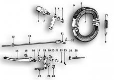 Goto diagram: BMW Classic Motorbike Model R51/2( ECE ), Category 34.10 Rear wheel brake :: Diagram: 34_0912