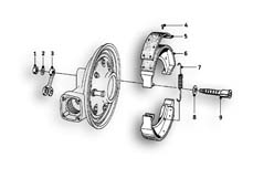 Goto diagram: BMW Classic Motorbike Model R69 S( ECE ), Category 34.10 Rear wheel brake :: Diagram: 34_0971