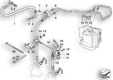 Goto diagram: BMW Classic Motorrad Modell R 1150 GS 00 (0415,0495)( ECE ), Category 34.32 BRAKE PIPE FRONT ABS :: Diagram: 34_1001