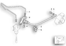 Goto diagram: BMW Classic Motorrad Modell F 650 GS Dakar 04 (0176,0186)( USA ), Category 34.32 Brake pipe, rear, not for ABS :: Diagram: 34_1011