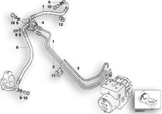 Goto diagram: BMW Classic Motorbike Model G 650 GS 09 (0178,0179)( ECE ), Category 34.32 BRAKE PIPE FRONT ABS :: Diagram: 34_1020