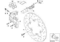 Goto diagram: BMW Classic Motorbike Model G 650 GS 09 (0178,0179)( ECE ), Category 34.21 Rear wheel brake :: Diagram: 34_1024