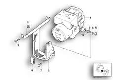 Goto diagram: BMW Classic Motorrad Modell R 1200 S (0366,0396)( ECE ), Category 34.51 Pressure modulator ABS :: Diagram: 34_1049