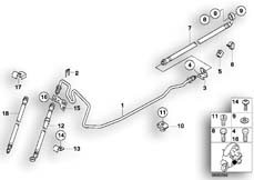 Goto diagram: BMW Classic Motorrad Modell C1 (0191)( ECE ), Category 34.32 BRAKE PIPE FRONT/REAR/MOUNTING :: Diagram: 34_1058