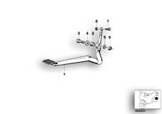 Goto diagram: BMW Classic Motorbike Model R 100 RT( USA ), Category 34.10 Brake pedal :: Diagram: 34_1083