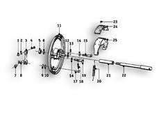 Goto diagram: BMW Classic Motorbike Model R69 S( ECE ), Category 34.05 FRONT WHEEL BRAKE :: Diagram: 34_1084