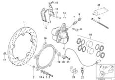 Goto diagram: BMW Classic Motorbike Model R 1150 RS 01 (0447,0498)( ECE ), Category 34.11 FRONT WHEEL BRAKE :: Diagram: 34_1158
