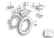 Goto diagram: BMW Classic Motorbike Model R 1150 RT 00 (0419,0499)( USA ), Category 34.21 Rear wheel brake :: Diagram: 34_1159