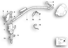 Goto diagram: BMW Classic Motorrad Modell R 1150 RS 01 (0447,0498)( USA ), Category 34.31 REAR BRAKE MASTER CYLINDER :: Diagram: 34_1160