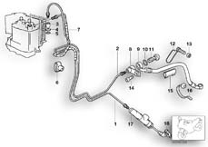 Goto diagram: BMW Classic Motorbike Model R 1150 RT 00 (0419,0499)( USA ), Category 34.32 Brake line, Integral ABS, rear :: Diagram: 34_1181