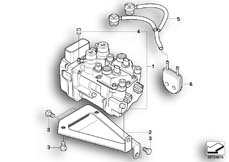 Goto diagram: BMW Classic Motorbike Model R 1200 C Indep. 03 (0362,0391)( USA ), Category 34.51 Pressure modulator Integral ABS :: Diagram: 34_1182