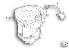 Goto diagram: BMW Classic Motorbike Model K 1200 GT 01 (0548,0558)( USA ), Category 34.51 Pressure modulator Integral ABS :: Diagram: 34_1187