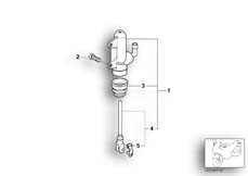 Goto diagram: BMW Classic Motorbike Model K 1200 GT 01 (0548,0558)( USA ), Category 34.31 REAR BRAKE MASTER CYLINDER :: Diagram: 34_1252