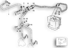 Goto diagram: BMW Classic Motorbike Model R 1150 GS Adv. 01 (0441,0492)( USA ), Category 34.32 BRAKE PIPE FRONT ABS :: Diagram: 34_1274