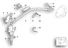 Goto diagram: BMW Classic Motorbike Model R 1150 GS Adv. 01 (0441,0492)( USA ), Category 34.31 REAR BRAKE MASTER CYLINDER :: Diagram: 34_1276