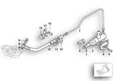 Goto diagram: BMW Classic Motorbike Model R 1200 CL (0442,0496)( USA ), Category 34.31 REAR BRAKE MASTER CYLINDER :: Diagram: 34_1313